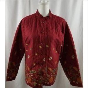 Breckenridge Woman's Cardigan 2X Rust Fall Colors